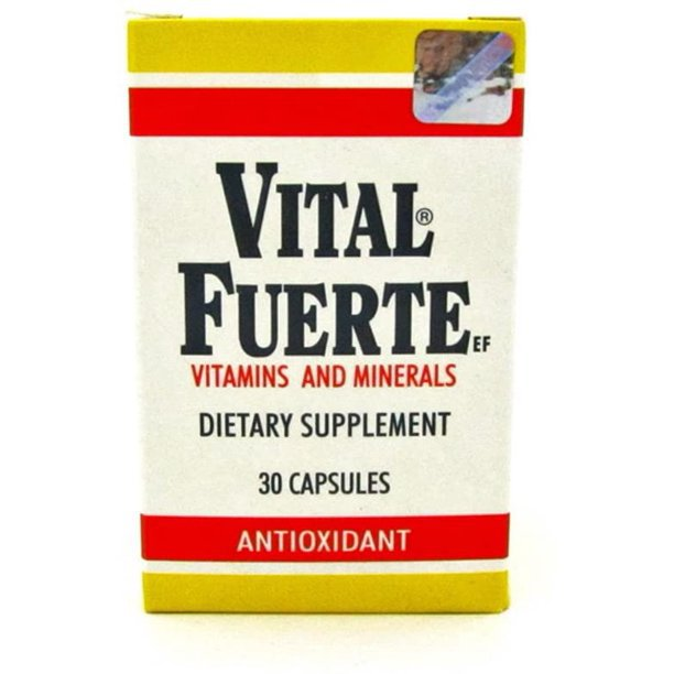 Vital Fuerte Dietary Supplements Vitamins and Minerals 30 Capsules