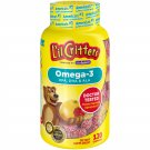 L'il Critters Omega-3 Dietary Supplement Gummies - Fruit - 120 Count
