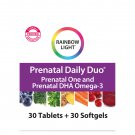 Rainbow Light Prenatal Daily Duo Multivitamin Tablets and Softgels - 60 Count