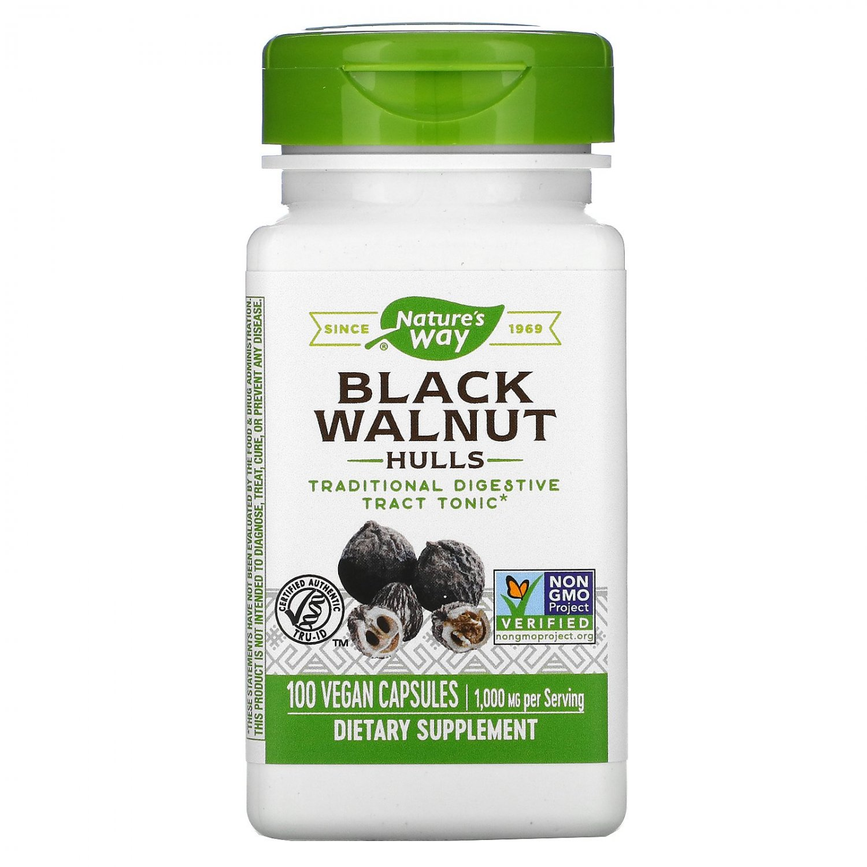Nature's Way, Black Walnut Hulls, 1000mg/Serving, 100 Vegan Capsules