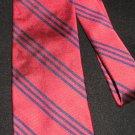 Ralph Lauren Red Necktie w/Navy Stripes