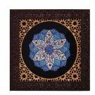 Persian handpainted artwork copper Mina Kari Plate