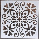 1pc 15*15 Mandala Stencils DIY home decoration drawing Laser cut template Wall Stencil Painting for