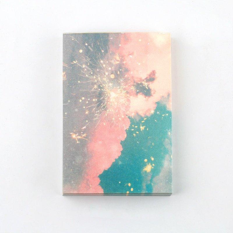 Mr Paper 100pcs/lot Ins Style Rainbow Star Sunset Waves Loose Leaf Memo Pads Minimalist Write Down P