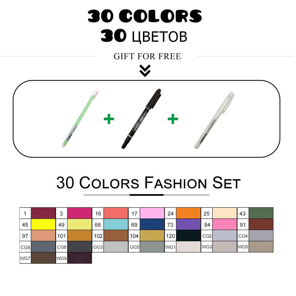 TouchFIVE art markers sets 30/40/60/80/168Colors Anime student design sketch manga  Alcohol Marker P