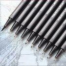 10Pcs/set Pigment Liner Micron Ink Marker Pen 0.05 0.1 0.2 0.3 0.4 0.5 Brush Tip Black Fineliner Ske