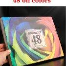 Brutfuner 120/160Colors Oil Color Pencils Set Sketch Pencil No-Toxic Wood Soft Bright Color Pencil A