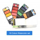 Dropshipping Superior 18/25/33/42colors Solid Watercolor Paint Set With Water Brush Pen Portable Wat