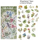 40 Pcs/set Vintage Stickers Fall Flowers Bullet Journal Decorative Sticker Diary Stationery Album St