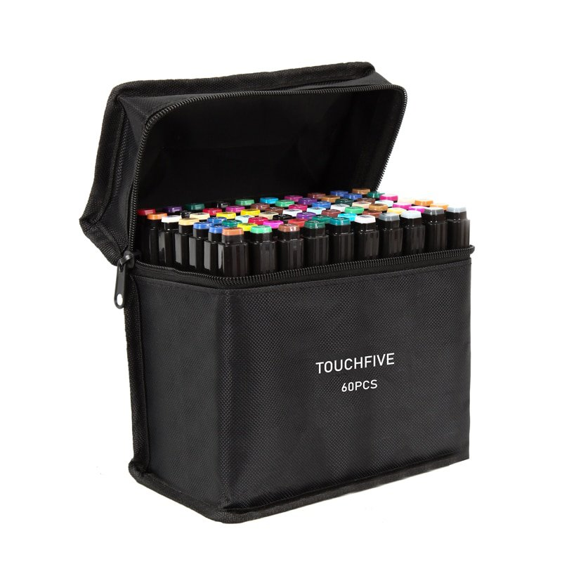 TouchFIVE 30/40/60/80/168 Color Art Markers Set Dual Headed Artist  Sketch Oily Alcohol based marker