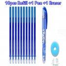 Erasable Pen Set Washable handle Blue Black Color Ink Writing Ballpoint Pens for School Office Stati