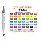 TouchFive Markers 48/80/168 Color Sketch Art Marker Pen Double Tips  Alcoholic Pens For Artist Manga