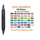 TOUCHFIVE Markers 36 48 80 168 Colors Dual Tips Alcohol Graphic Sketch Twin Marker Pen With Bookmark