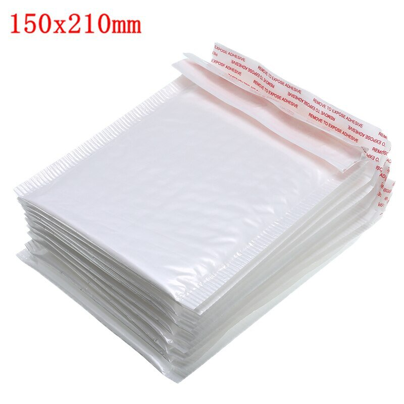 50 PCS/Lot White Foam Envelope Bags Self Seal Mailers Padded Shipping Envelopes With Bubble Mailing