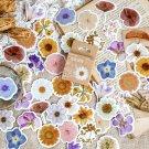 46 Pieces/Box Gardenia Flower Sticker Self-adhesive Various Sticker Manual Account DIY Decoration Se