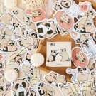 45Pcs Kawaii Raccoon Stickers Cute Stationery Stickers List Diary Paper Sticker For Kids DIY Decorat