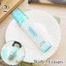 Cute Kawaii Heart Flower Rubber Erasers Lovely Stripe Pencil Eraser For Kids Gift Creative Korean St