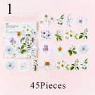 45pcs/bag Kawaii List Diary Cute Diary Flower Stickers Scrapbooking Japanese Stationery Decoration C