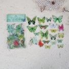 Mr.paper 8 Designs 40Pcs/lot Butterfly Deco Stickers Scrapbooking Bullet Journal Toy Plants Deco Alb