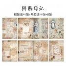 8pcs/pack Vintage English Newspaper Decoration Sulfuric Acid Paper DecoratIve DIY Album Diary Scrapb