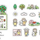 Many styles cute creative DIY fun stickers plant characters landscape aesthetic stickers diary decor