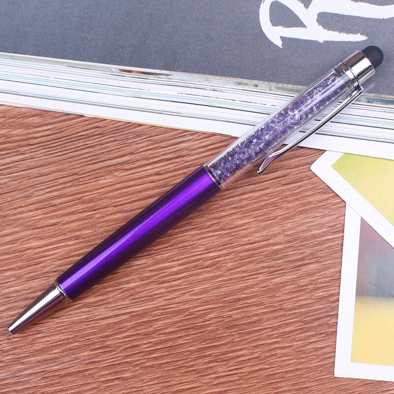 Beautifully Crystal Ballpoint Pen Fashion Creative Stylus Touch Pen for Writing Stationery Office &a