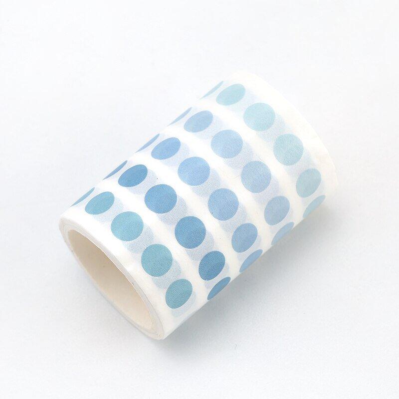 1 Pcs Dot Masking Tape Wide Washi Tape Basic Colorful Round Adhesive Tape DIY Scrapbooking Journal S