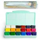 MIYA 18 Colors Gouache Paint Set  30ml Portable Case with Palette Gouache Watercolor Painting for Ar