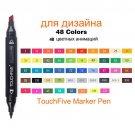TouchFive Art Marker Set 30/40/80/168 Colors Alcohol Base Markers manga Sketch Drawing Marker Pen Fo