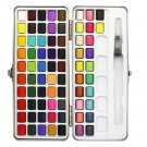 SeamiArt 72/90Color Solid Watercolor Set Basic Neone Glitter Watercolor Paint for Drawing Art Paint