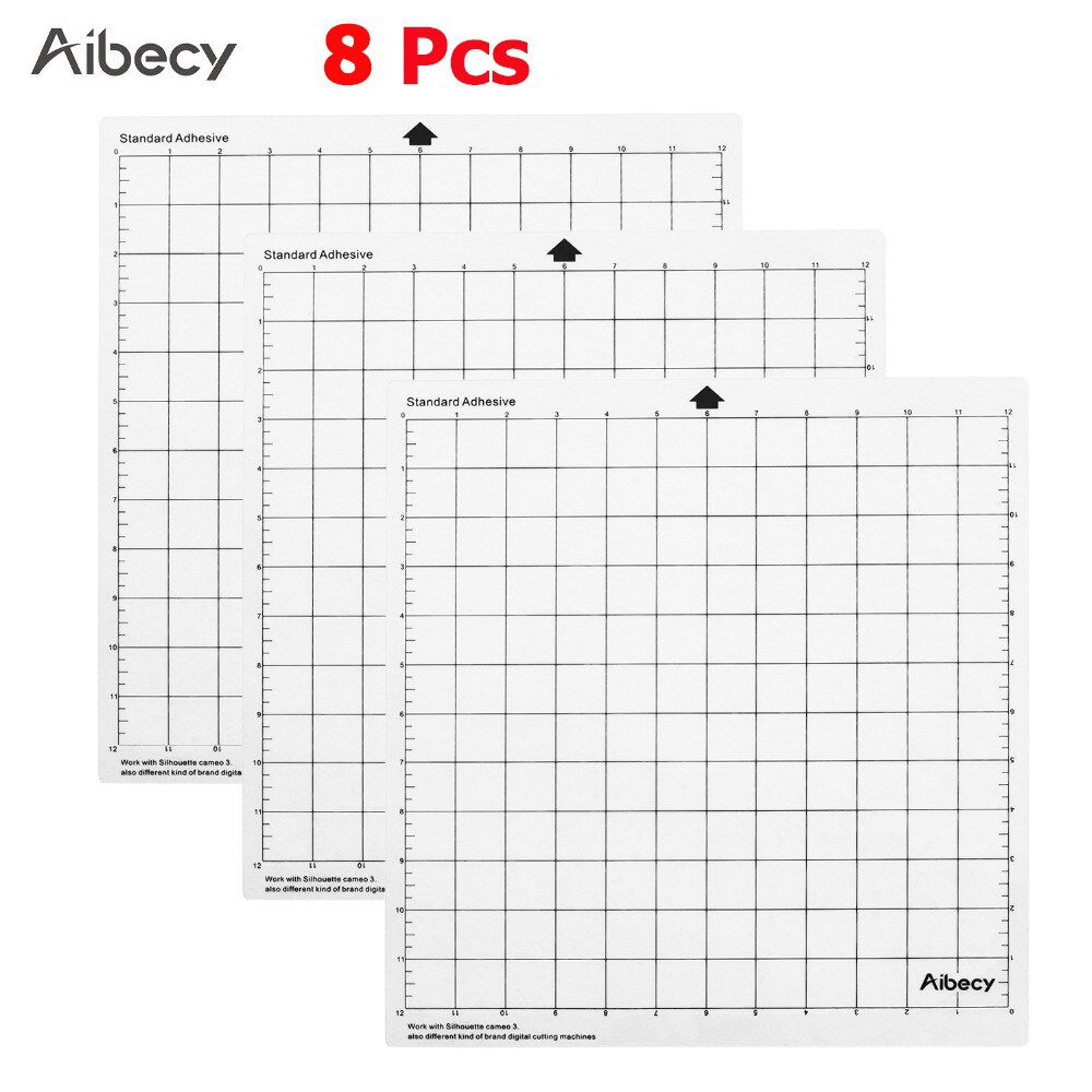 1Pc-15Pcs Replacement Cutting Mat Transparent Adhesive Mat with Measuring Grid 12*12-Inch for Silhou