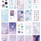 20 sheets/pack Plants & Planets Landscape Scrapbooking Stickers Aesthetic Paper Sticker Flakes S