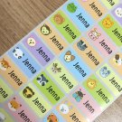 60Pcs 28X13MM Hebrew Name Customize Stickers Cute Carton Pattern Children Boy Girl School Stationery