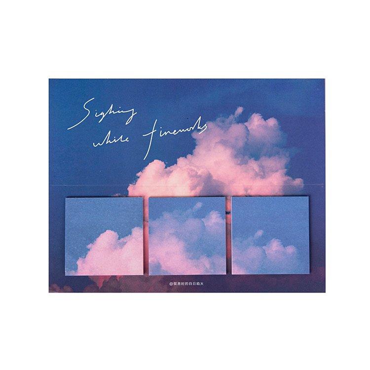 Mr.Paper 16 Designs 60pcs Fantasy Sky Cloud Moonlight Memo Pad Deco Sticky Notes Notepad Diary Creat