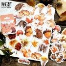 45pcs/box Stationery Stickers Decorative Stickers Scrapbooking Stick Label Diary Album  Supplies - q