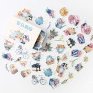Mr.paper 40Pcs/box 24 Designs Hot Kawaii Scrapbooking Deco Stickers Flake Vintage Fairy Tale Kid Sti