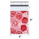20pcs 15x23cm 6x9 inch pattern printed Poly Mailers Self Seal Plastic Envelope Bags - Rose