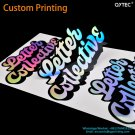 Free Shipping Drop Shipping Custom Printing Logo Label Stickers PVC Vinyl Paper PET PP Kraft Paper S