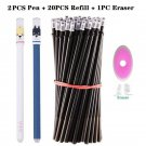 Erasable Pen Set Washable Handle Black Blue Ink Writing Gel Pen Rollerball Pens For School Office St