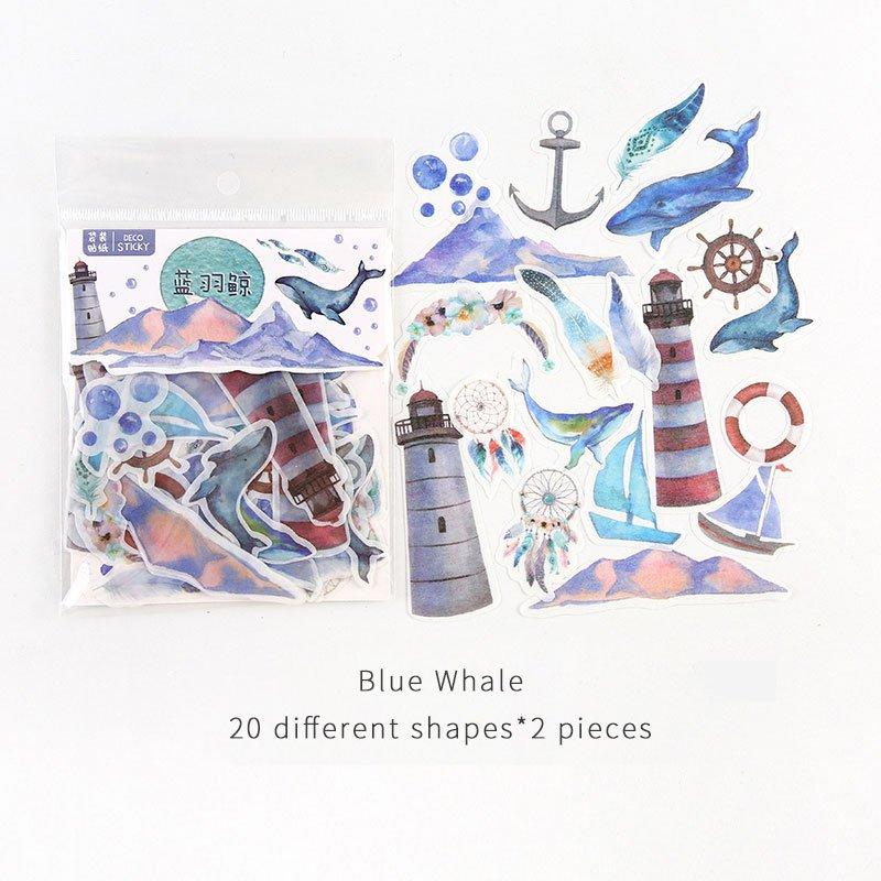 Mr.paper 40Pcs/bag 24 Designs D Diary Stickers Scrapbooking Warm Winner Series Japanese Kawaii Creat