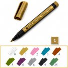 Metal Color Painting Art Marker 1.5mm Waterproof Permanent  DIY Manga Drawing Craft Pens Stationery