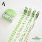 4pcs Geometry Mini Washi Tape Cute Stripe Decorative Adhesive Masking Tapes For Decorations Scrapboo