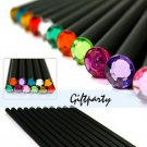 12Pcs/Set Pencil Hb Diamond Color Pencil Stationery Drawing Supplies Pencils For School Office Prese