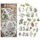 40-60pcs Vintage Stickers Plant Flower Stickers for Diy Scrapbooking Bullet Journal naklejki Decorat