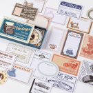 60pcs/box Vintage Plant Travel Matchbox Diary Stickers Retro Stamps Scrapbooking Korean Cute Sticker