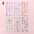 6Sheets Kawaii Stationery Stickers Cute Unicorn Flower Stickers Heart Adhesive Sticker For Kids Deco