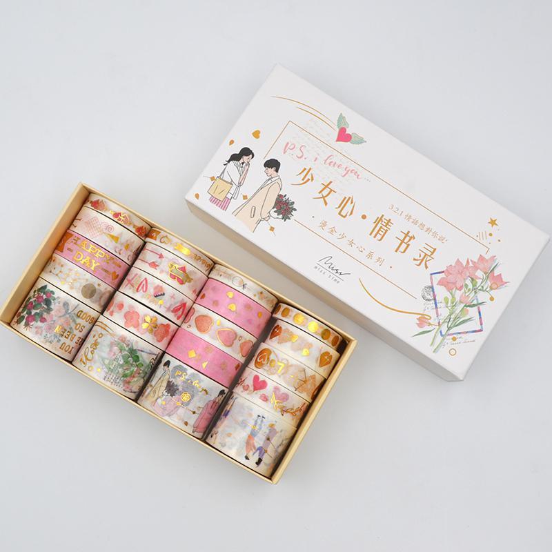 20Rolls/Lot Foiling  Universe Washi Tape Set DIY Craft Masking Scrapbooking Tape For Diary Album Sta