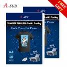 A3/A4 T shirt Transfer paper  for dark color100% Cotton Fabrics Cloth inkjet Printing Design - Dark