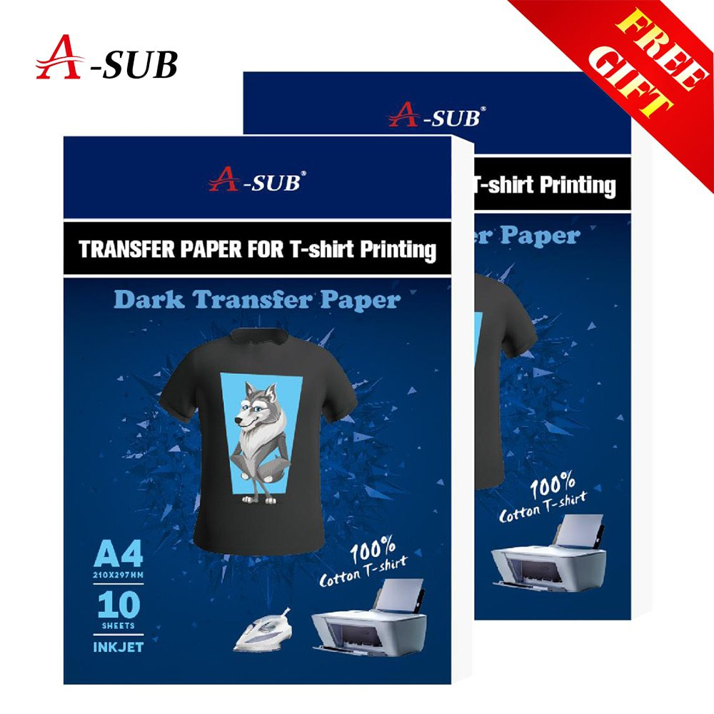 A3/A4 T shirt Transfer paper  for dark color100% Cotton Fabrics Cloth inkjet Printing Design - Dark