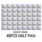 6/12/24/36/48Pcs Empty Watercolor Half Paint Pans for Artist Student Beginners Drawing Painting Tool